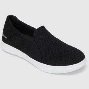 Black SKECHERS Slip on Knit Athletic Shoes, NWT